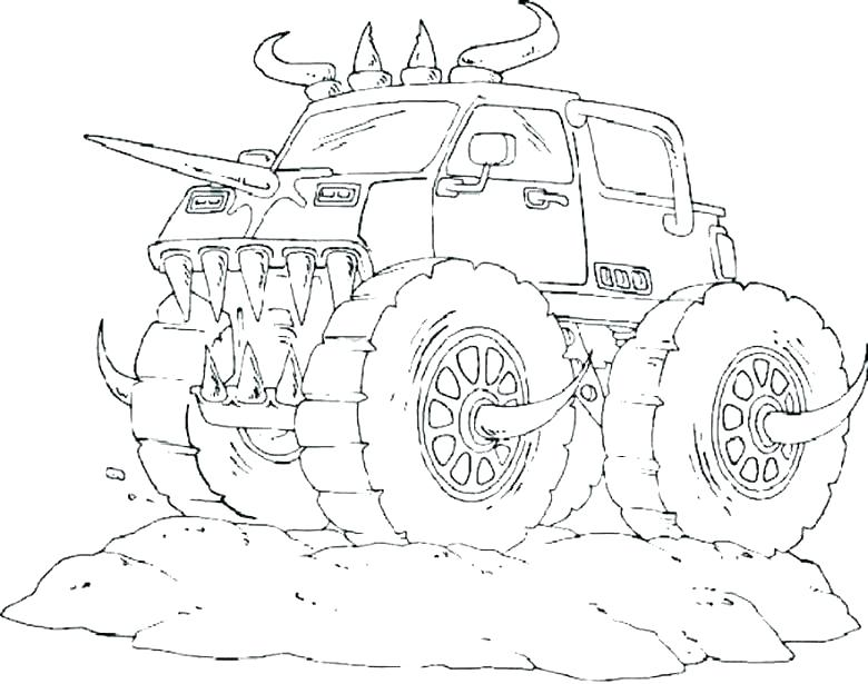 780x615 Grave Digger Coloring Page Free Truck Coloring Pages Grave Digger