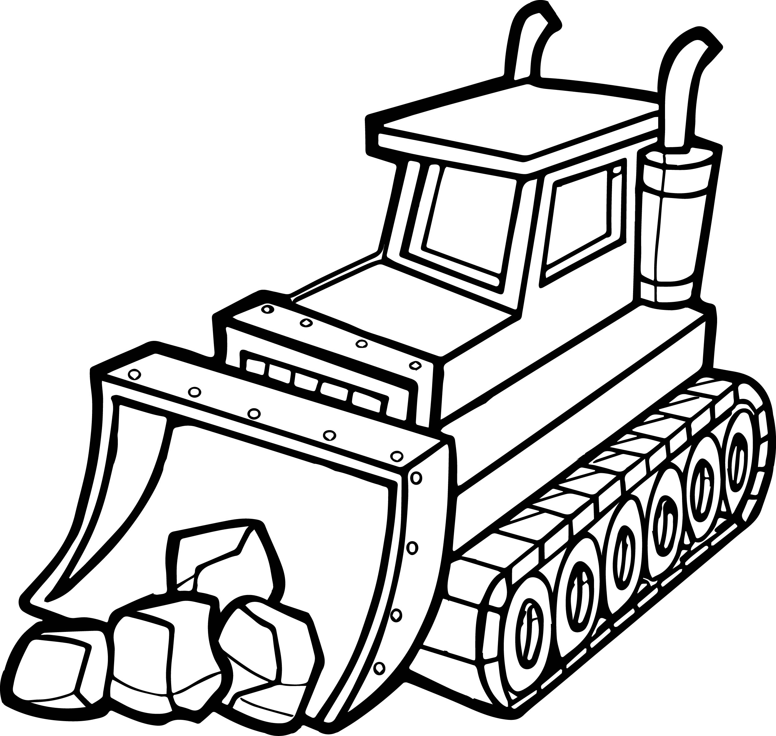 2503x2375 Backhoe Coloring Page