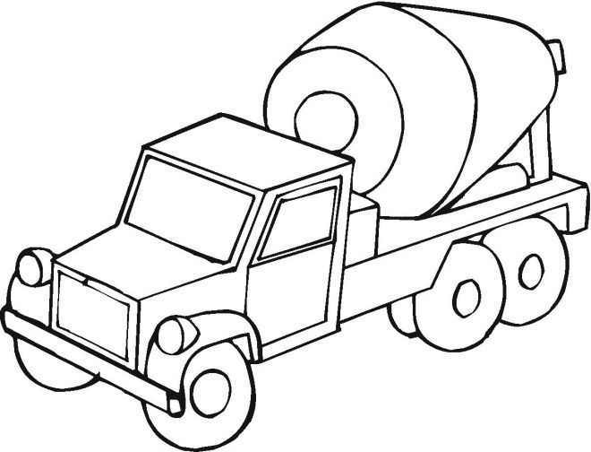 660x504 Backhoe Coloring Page Printable