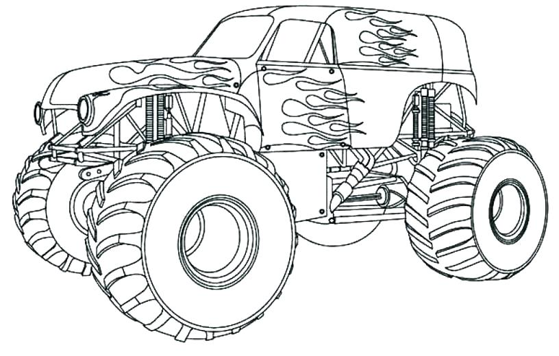 816x520 Coloring Grave Digger Coloring Page