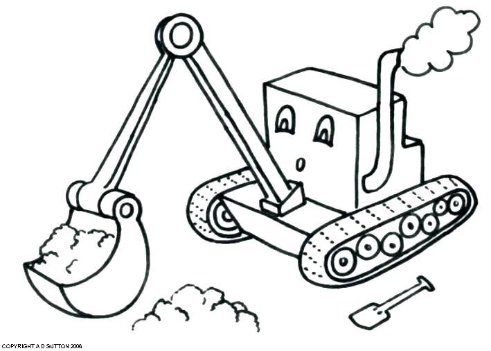 709x506 Digger Coloring Page