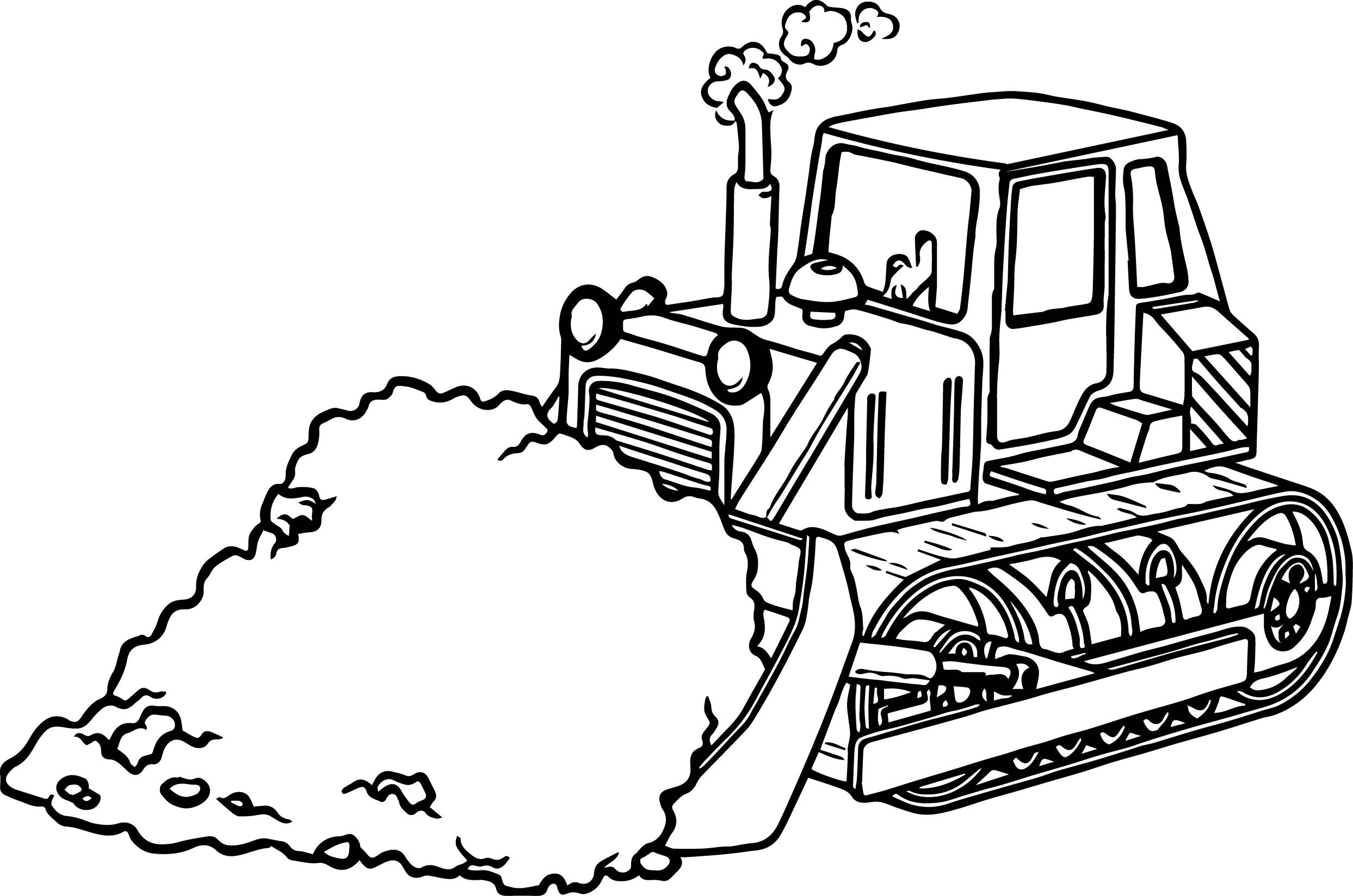 2487x1648 Backhoe Coloring Page