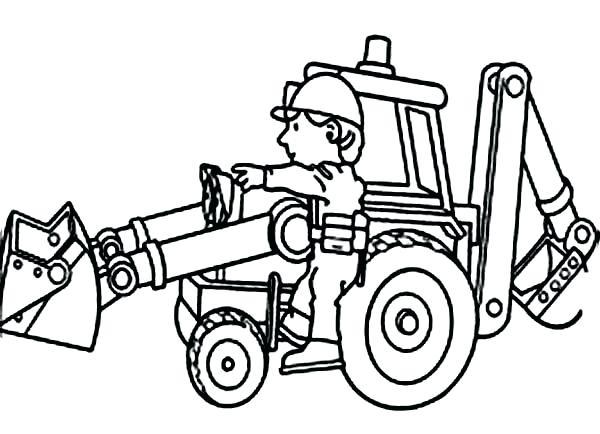 600x434 Bulldozer Coloring Page Drawing Board Weekly Bulldozer Monster