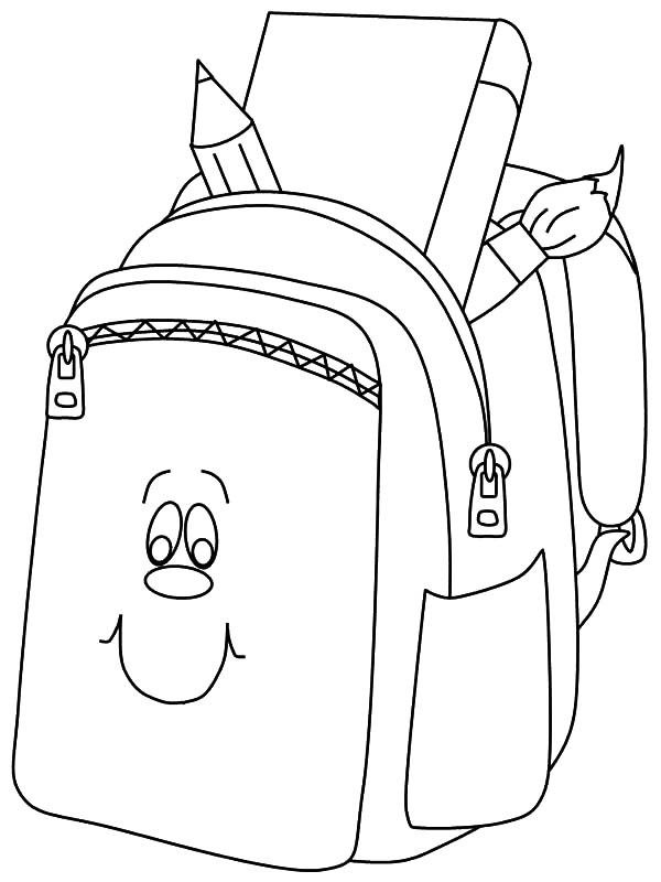 600x800 Backpack Coloring Page Best Of Free Coloring Pages Of Backpack