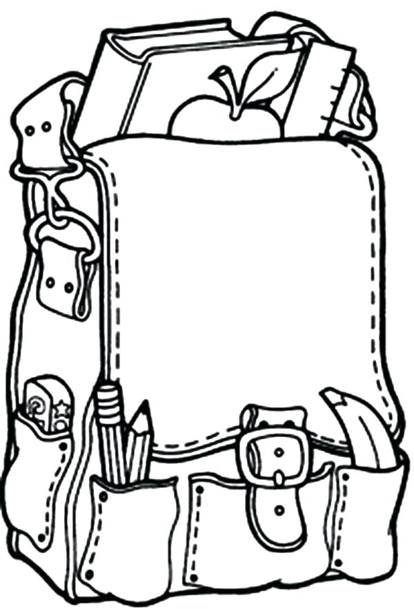 600x882 Backpack Coloring Pages Backpack Coloring Pages Printable Coloring