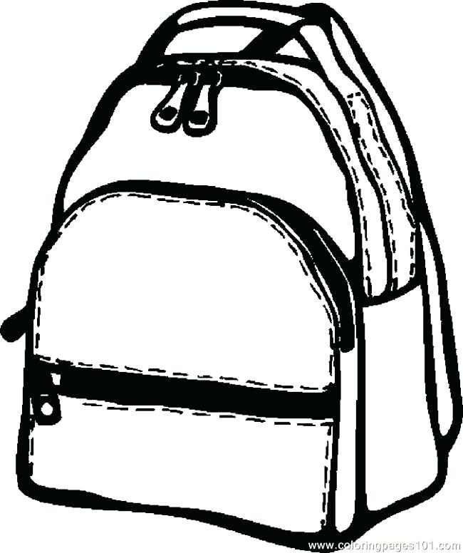 650x776 Backpack Coloring Pages Coloring Backpack Backpack Colouring Pages