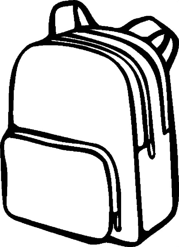 600x828 Backpack Coloring Pages Printable