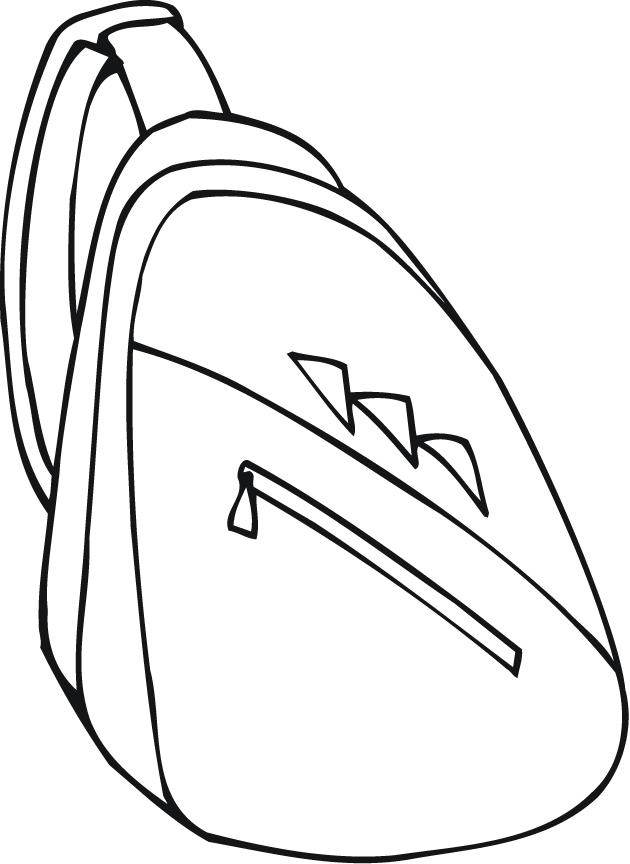 630x864 Backpack Coloring Sheet