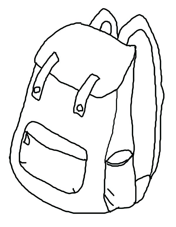 600x776 Backpack Coloring Sheets Printable Coloring How To Draw Backpack