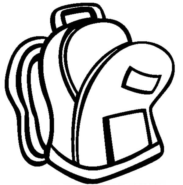 600x608 An Open Backpack Coloring Pages Best Place To Color