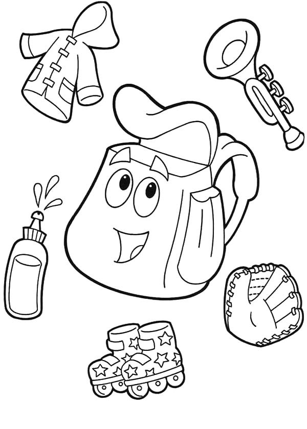 600x840 Dora The Explorer Backpack Coloring Pages Best Place To Color