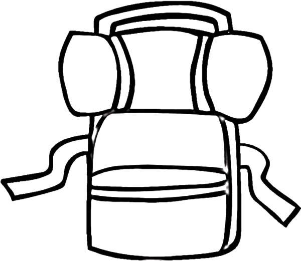 600x521 Drawing Camping Backpack Coloring Pages