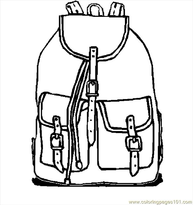 650x691 Backpack Coloring Page