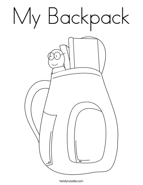 468x605 My Backpack Coloring Page