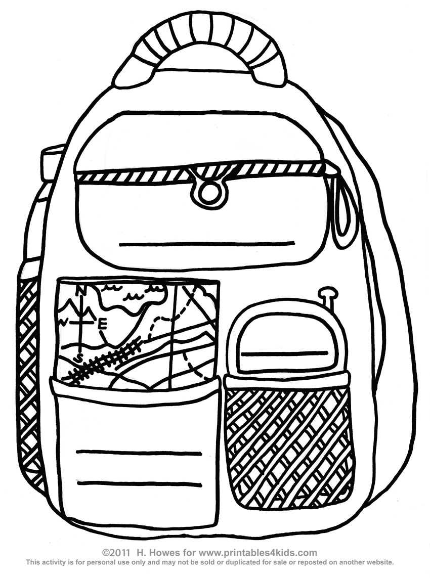 850x1147 Useful Backpack Coloring Sheet Page Rallytv Org