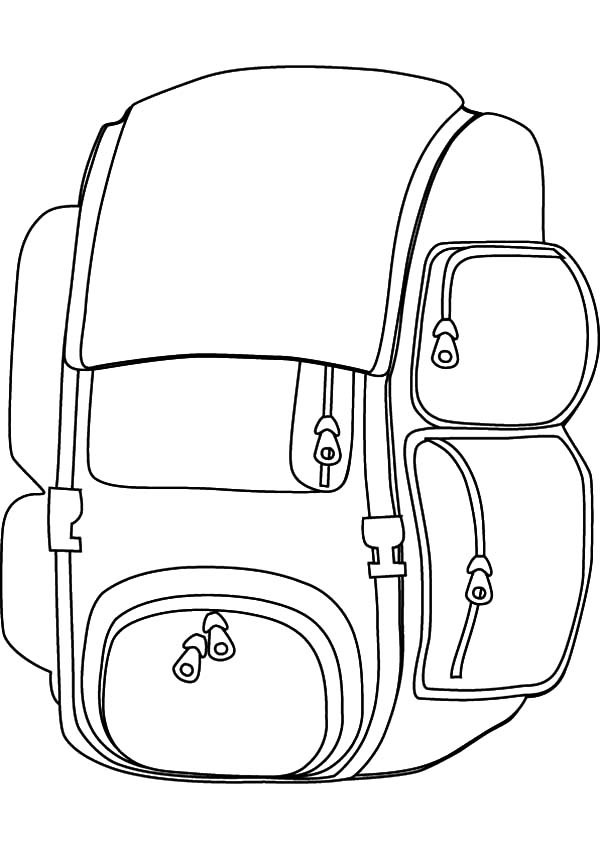 600x849 Useful Design Backpack Coloring Pages Best Place To Color