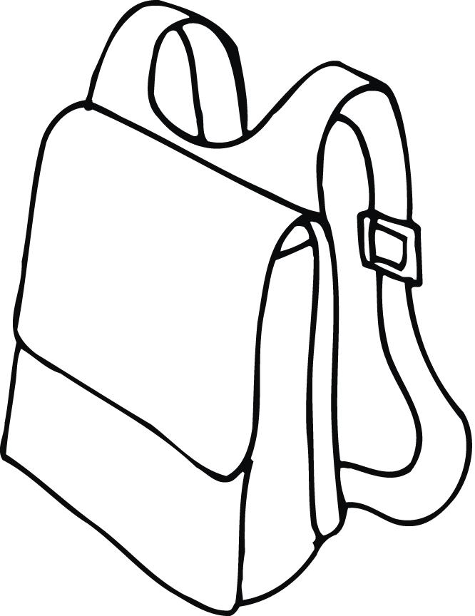 666x864 Printable Outline Of A Backpack With Straps