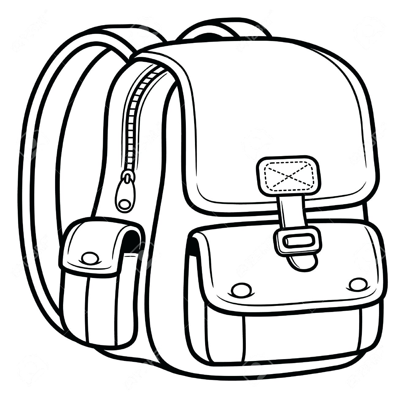 1300x1300 Backpack Coloring Page