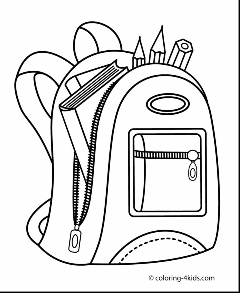 840x1024 Backpack Coloring Page