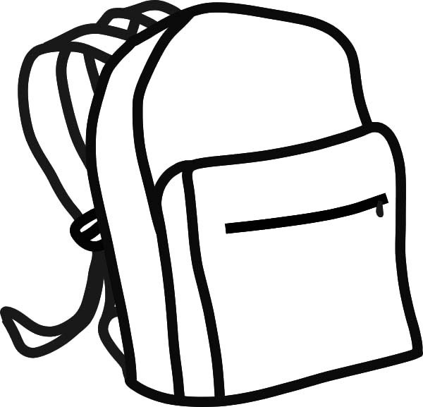 600x577 Backpack Coloring Page Backpack Coloring Page Coloring Page Free