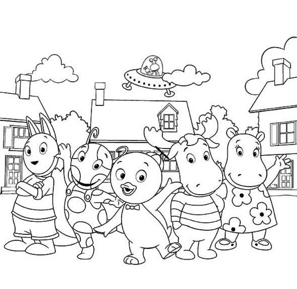 Backyard Coloring Pages