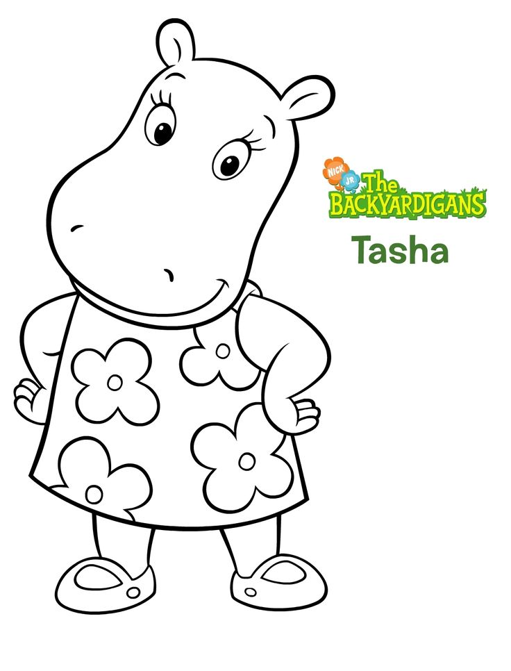 Backyardigans Tasha Coloring Pages