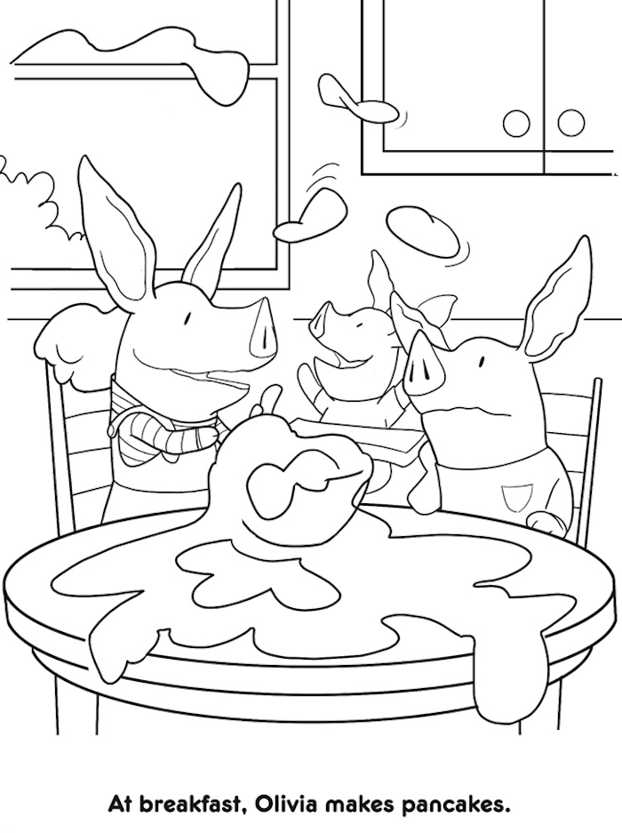 700x937 Dover Olivia's Big Day Coloring Page Kids All Ages Color