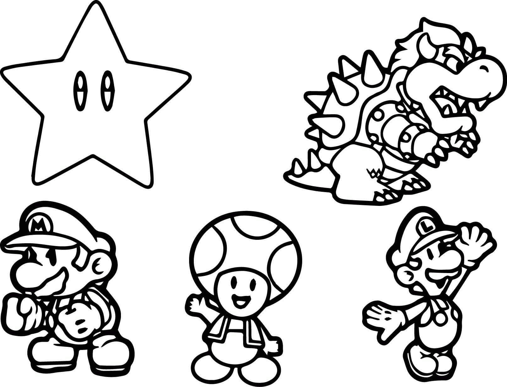 1614x1233 Mario Coloring Pages Selection Free Coloring Pages