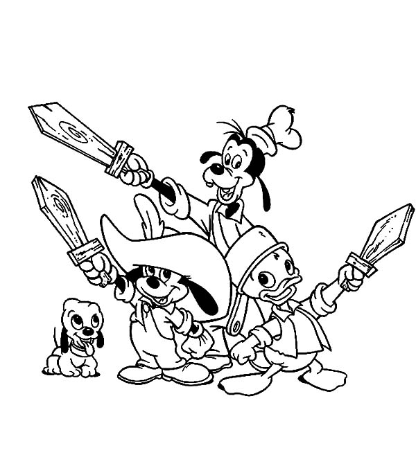 600x686 Barbie Three Musketeers Arrest The Bad Guy Coloring Pages Batch