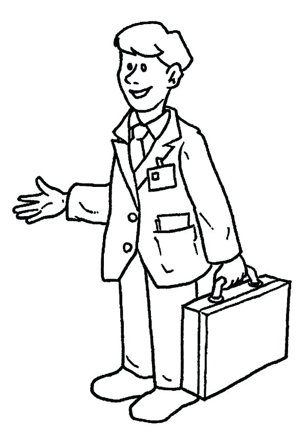 600x863 Lego Man Coloring Page Person Coloring Pages Business Man On Jobs