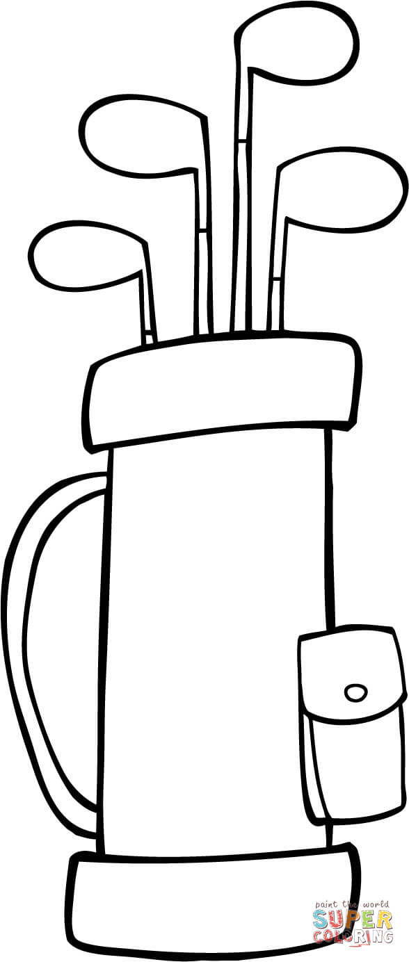 588x1384 Golf Bag Coloring Page Free Printable Pages Unusual Mosm