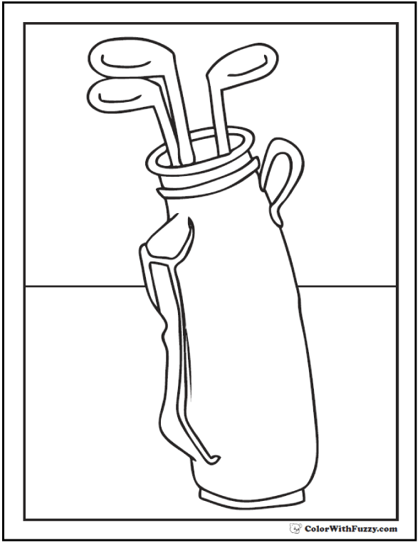 590x762 Golf Coloring Pages Customize And Print Pdf