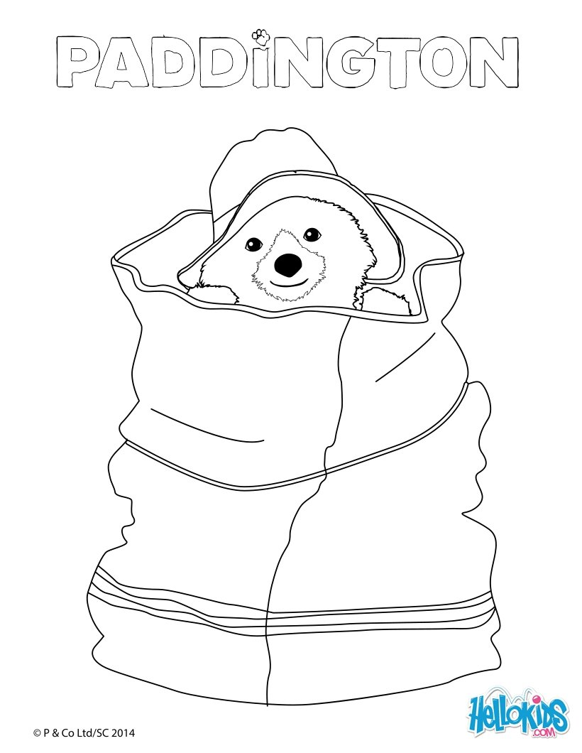 820x1060 Paddington Hidden In A Bag Coloring Pages