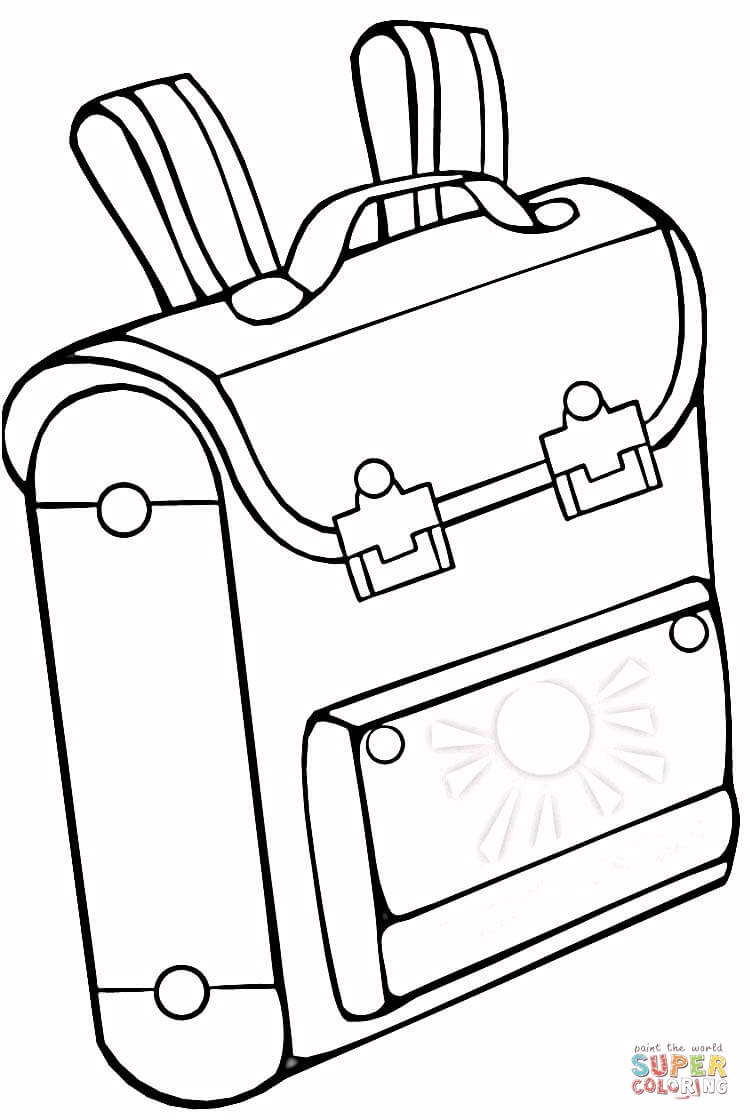 750x1120 School Bag Coloring Page Free Printable Pages And Acpra