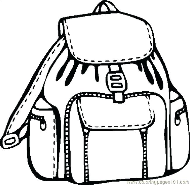 650x636 School Supplies Coloring Pages Bag School Supplies Coloring Pages