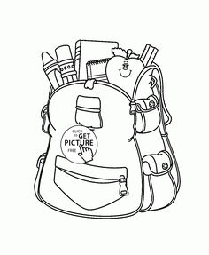 236x287 School Bag Coloring Page Coloring For Kids School