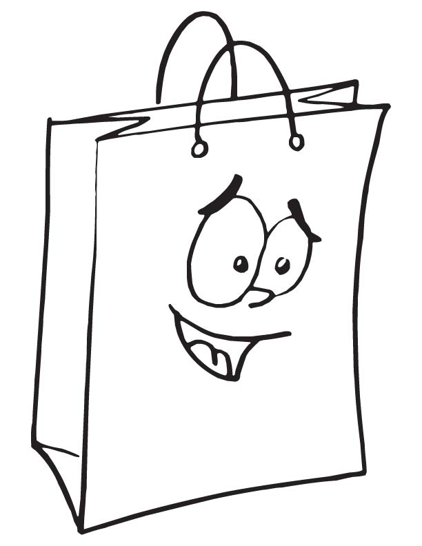 612x792 Shopping Bag Coloring Page