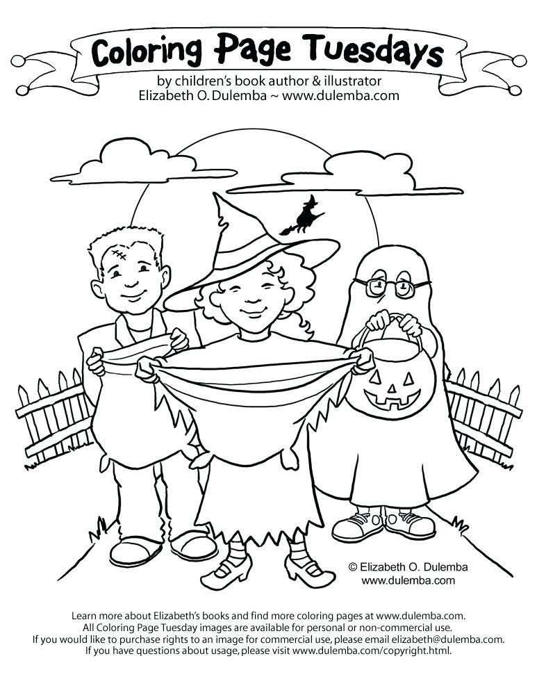 773x1000 Trick Or Treat Coloring Pages Trick Or Coloring Page Halloween