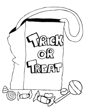 281x364 Trick Or Treat Bag Coloring Pa