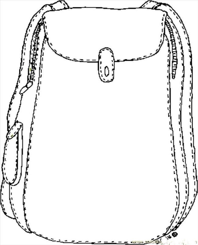 650x806 Bag Coloring Pages Coloringpagehub