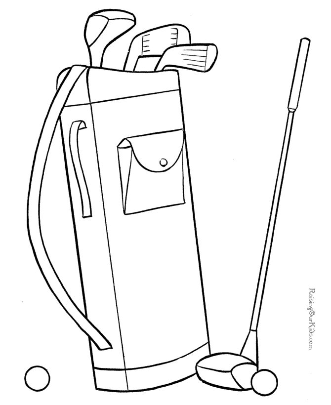 670x820 Golf Bag Coloring Page Best Golf Towel Images