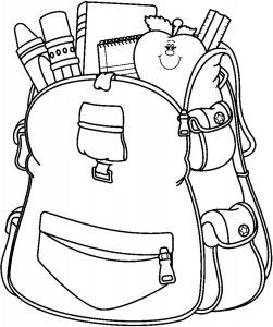 251x300 School Bag Coloring Page School