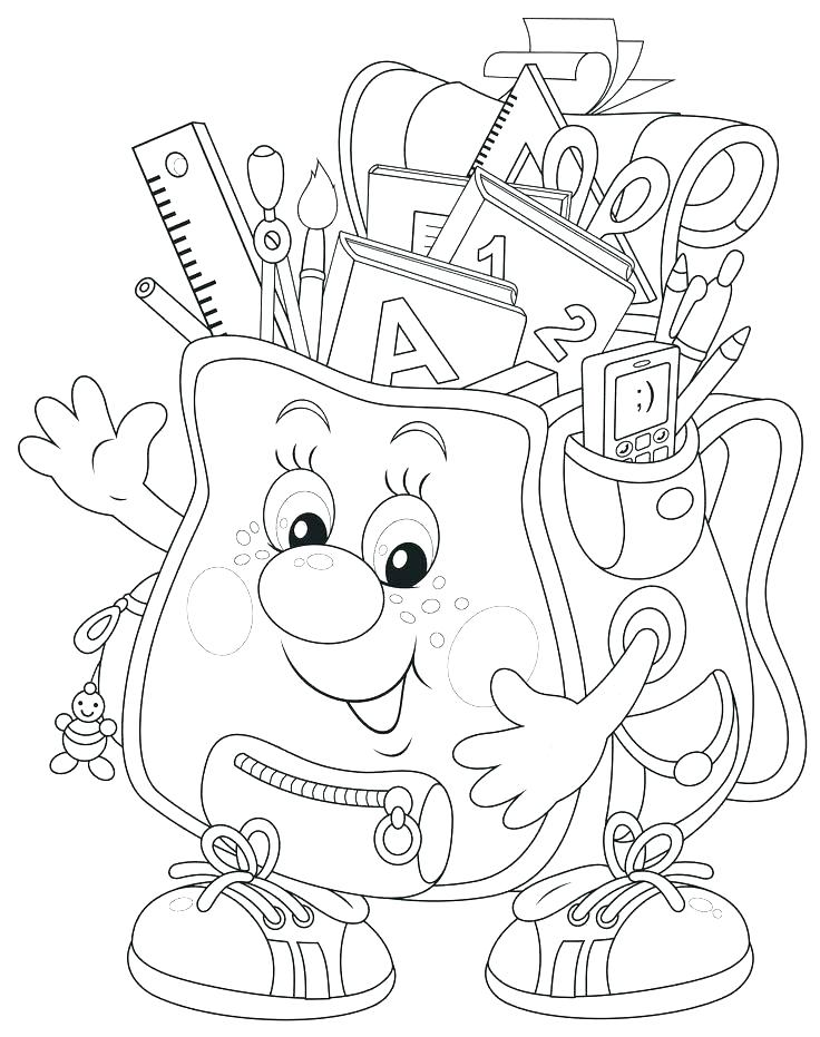 736x931 Coloring School School Bag Coloring Page School Boy Coloring Sheet