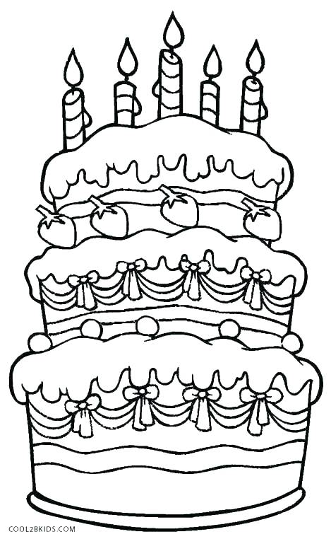 469x762 Blank Birthday Cake Coloring Page Coloring Pages Birthday Birthday