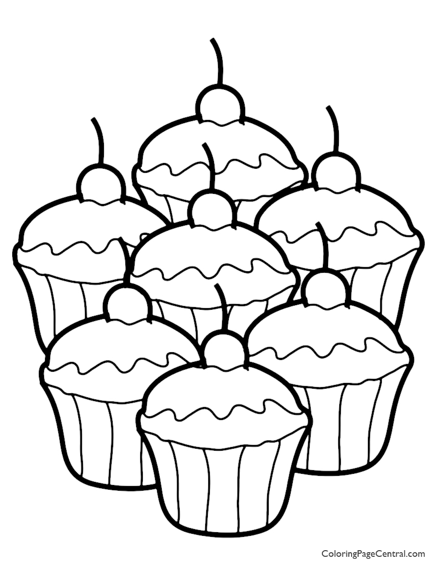 850x1100 Cupcake Coloring Page Coloring Page Central