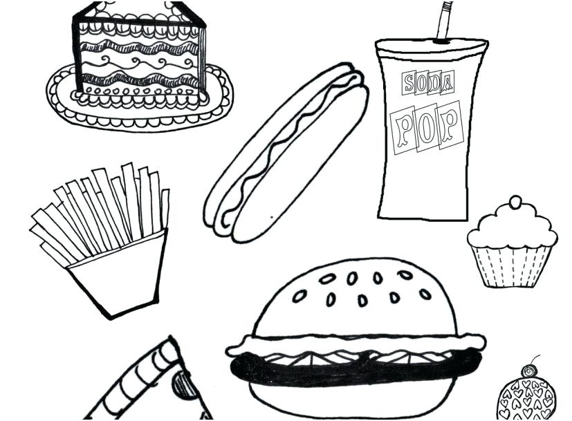 827x609 Healthy Foods Coloring Pages Healthy Food Coloring Pages Display
