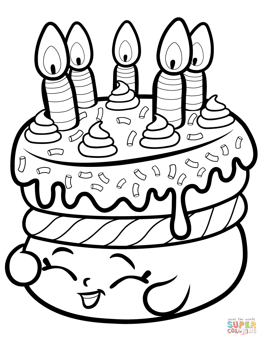 873x1130 Tested Coloring Page Cake Decorating Wishes Shopkin Free Printable