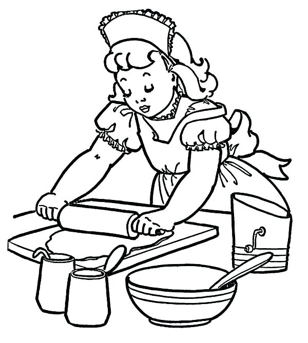 600x669 Coloring Page Cake How To Make Cake At Bakery Coloring Pages