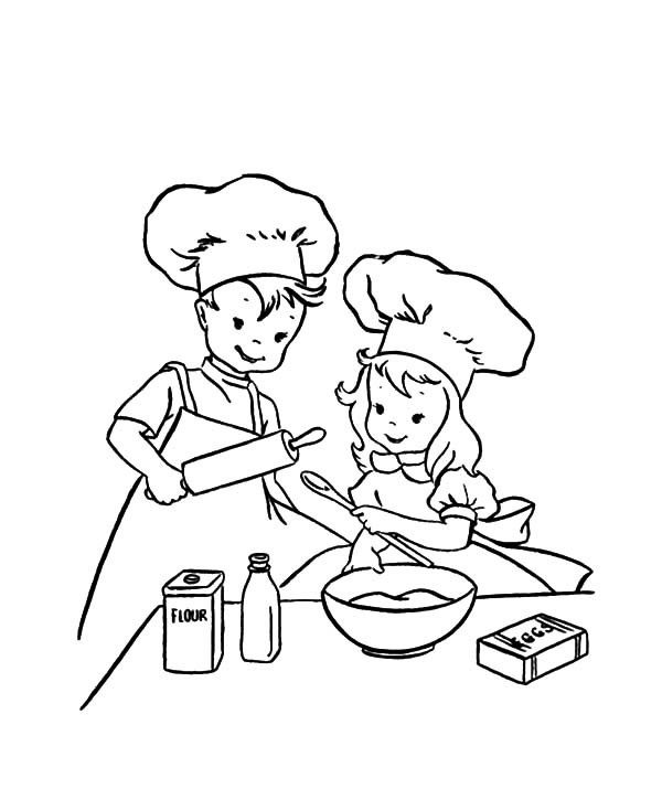 600x734 Learn To Baking Cookies Coloring Pages Best Place To Color