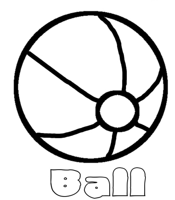 576x658 Beach Ball Coloring Page Coloring Pages Beach Ball